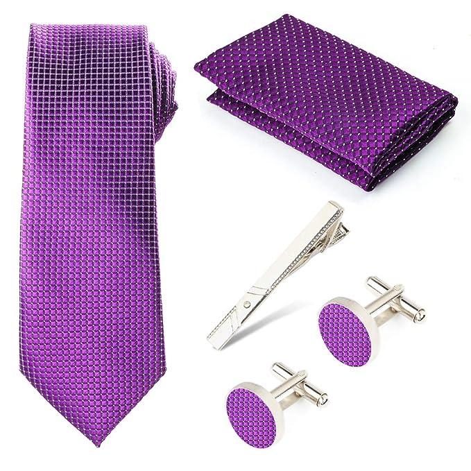 Beelittle Corbata con corbata de bolsillo para hombre Pañuelos y ...