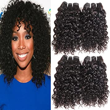 Amazon urbeauty brazilian kinky curly hair 4 bundles human urbeauty brazilian kinky curly hair 4 bundles human hair weave extension unprocessed virgin brazilian curly hair pmusecretfo Images