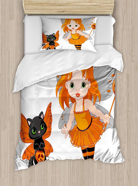 爆買い! ハロウィン布団カバーセットby JOSENIE、ハロウィンベビーフェアリーと彼女の猫コスチュームButterflies女の子子供用部屋装飾、装飾寝具セット枕のカバー、マルチカラー TWIN XL/TWIN XL XL nev/_36708_twin TWIN/ TWIN XL マルチ1 B07QRPVQT3, 株式会社マルシンねっとサービス:96b4b5c6 --- 1levelliving.47.solutions