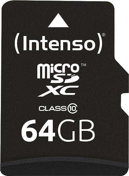Intenso 3413490 - Adaptador para tarjeta Micro SDXC 64 GB (class ...