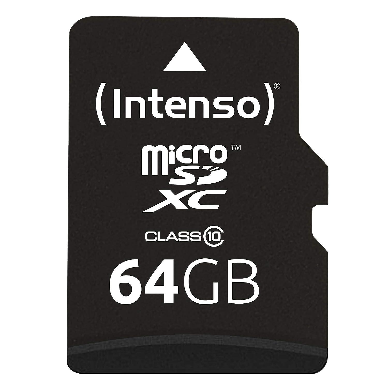 Amazon.com: Intenso 3413490 64GB Class 10 Micro SD Card + SD ...