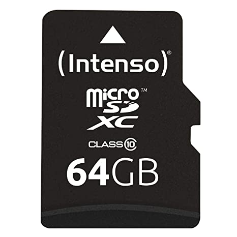Amazon.com: Intenso 3413490 64GB Class 10 Micro SD Card + SD ...