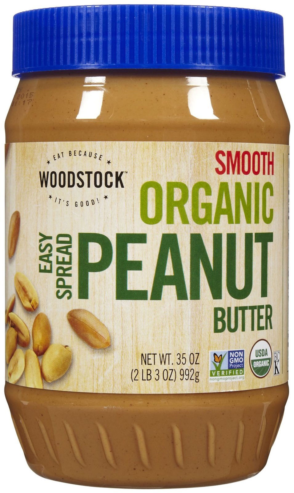 Woodstock Organic Smooth Peanut Butter, Salt Added, 35 oz