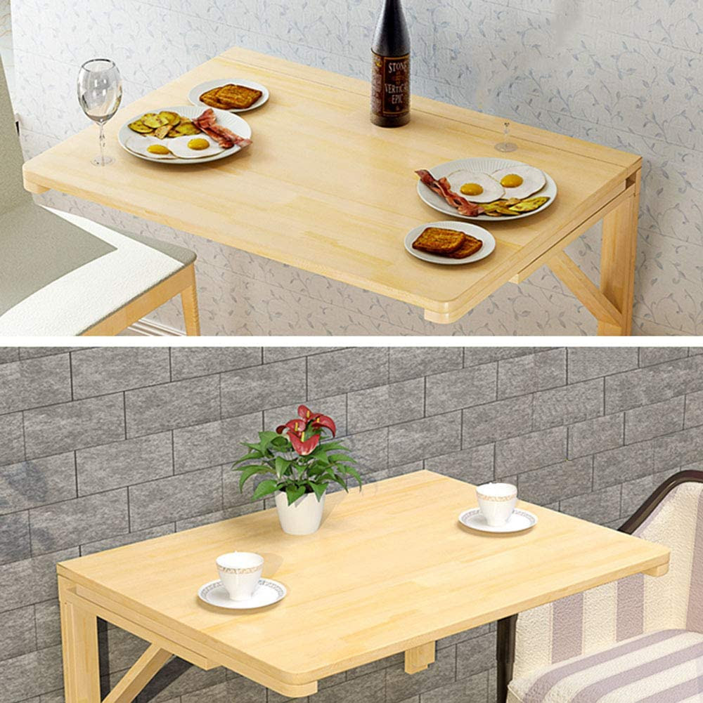 Scrivania Pieghevole A Muro per Computer,tavolino da Pranzo Galleggiante in Legno per Cucina,Adatto per Studio//Camera da Letto//Balcone,Colore del Legno
