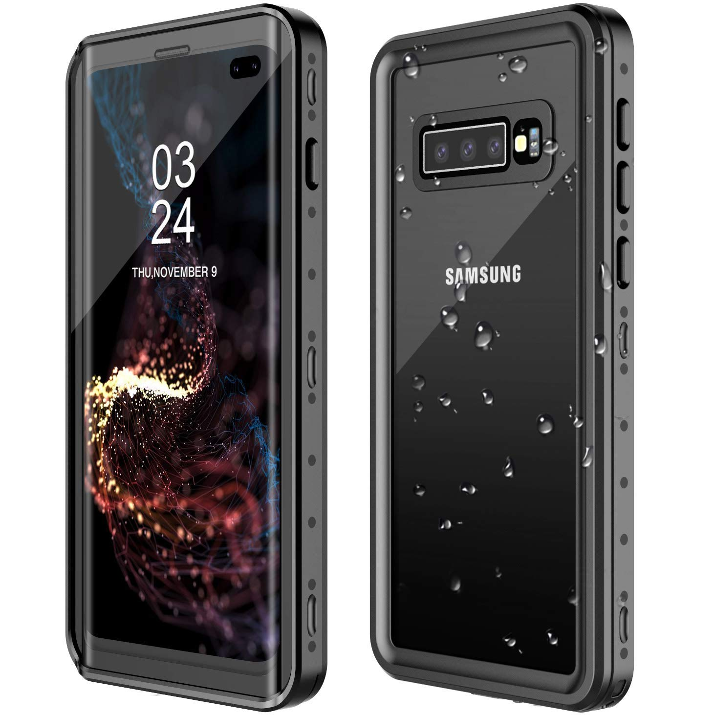 GOLDJU Samsung Galaxy S10 Plus Waterproof Case,S10 Plus Case Built in Screen Protector 360° Full Body Protective Shockproof Dirtproof Sandproof IP68 ...