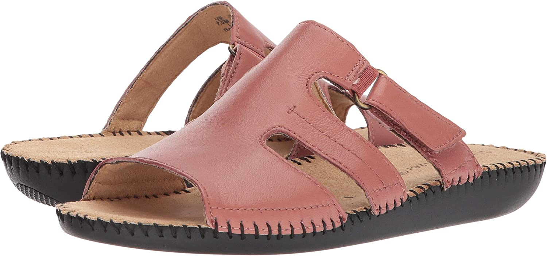 Naturalizer Sereneレディースブラックスライドサンダル Peony Pink Leather 6 B(M) US 6 B(M) USPeony Pink Leather B0771QYRP3