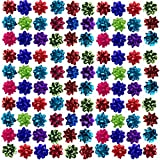 Holiday Home (108 Pack) Holiday Mini Gift Bows Peel 'N Stick Assorted Colors For Presents & Decor