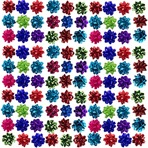 Holiday Home (108 Pack) Holiday Mini Gift Bows Peel 'N Stick Assorted Colors For Presents & Decor by Holiday Home