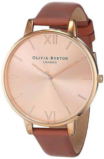 Olivia Burton Reloj Analógico para Mujer de Cuarzo con Correa en Cuero OB15BD78
