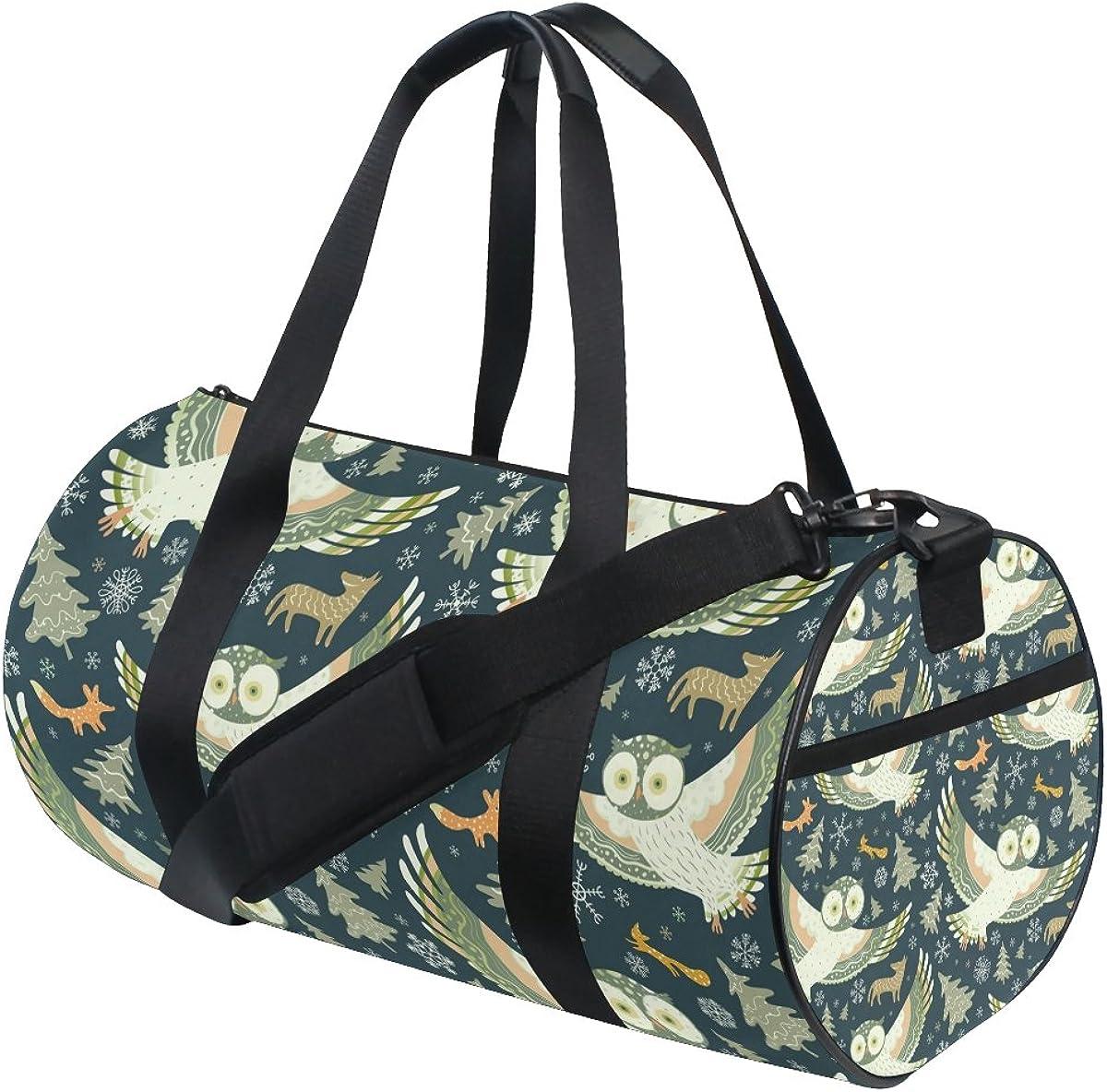 Evolutions Trendsetter Owl Travel Duffel Bag Sports Gym Bag For Men /& Women