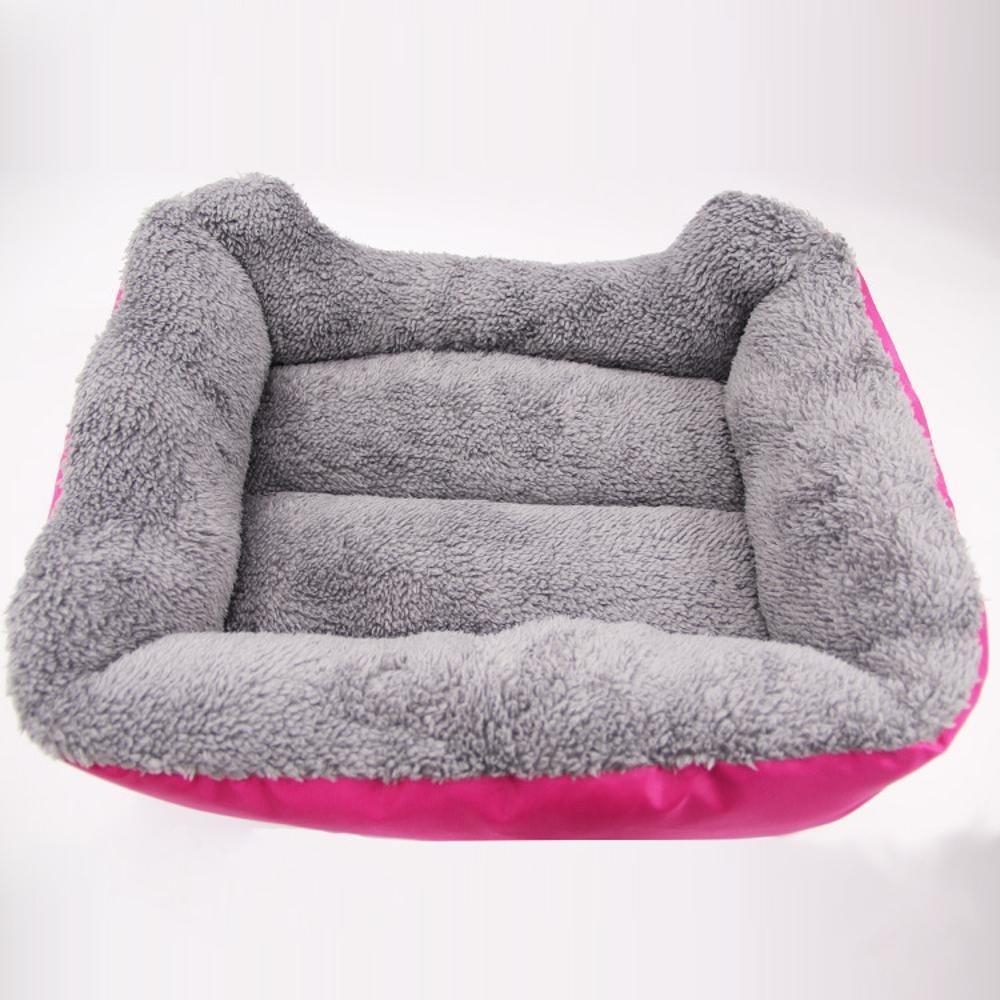 BiuTeFang Pet Bolster Dog Bed Comfort Cotton Velvet Pet Nest candy color Square kennel Cat mat
