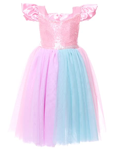 3bfb23edeade Cilucu Flower Girls Dress Kids Party Dress Baby Tutu Sequin Pageant  Bridesmaid Dresses Birthday Gown Ruffle