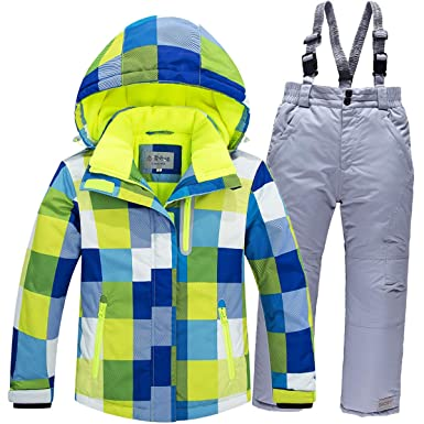 Baby Girls Boys Kids Winter Warm Outdoor Mountain Waterproof Windproof Snowboarding  Skiing Jackets with Snow Ski f957e3340