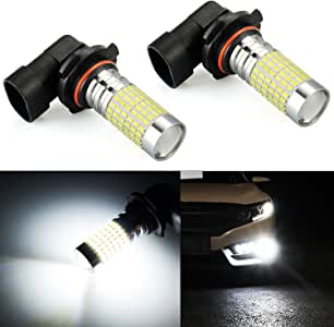 JDM ASTAR Bright White 144-EX Chips H10 9140 9145 9050 9155 LED Fog Light Bulbs with Projector