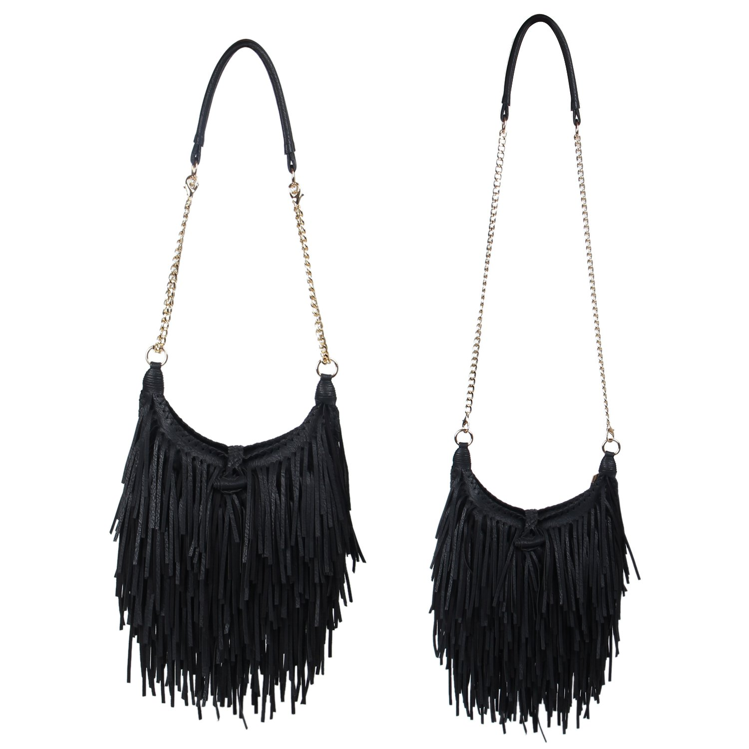 8599ed5fb753 LUI SUI Women's Fashion Fringed Shoulder Bag Tassel Cross Body Bags