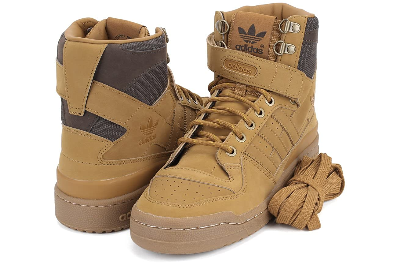 new concept cdc37 d9d8d Amazon.com  adidas Forum Hi OG Mens in MesaGumBrown, 12  Fashion  Sneakers