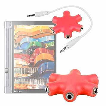 DURAGADGET Divisor De Auriculares Rojo para Tablet Lenovo ...