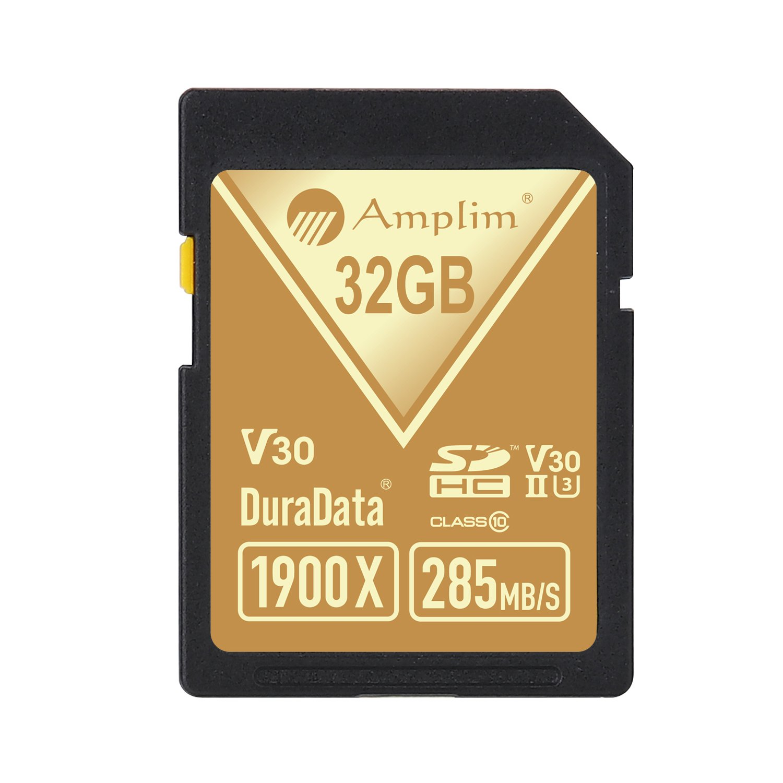 Amplim 32GB UHS-II SDHC SD Card Blazing Fast Read 285MB/S (1900X) Class 10 U3 Ultra High Speed V30 UHSII Extreme Pro SD HC Memory Card. Professional 4K Full HD Video Shooting 32 GB/32G TF Flash. New by Amplim (Image #4)