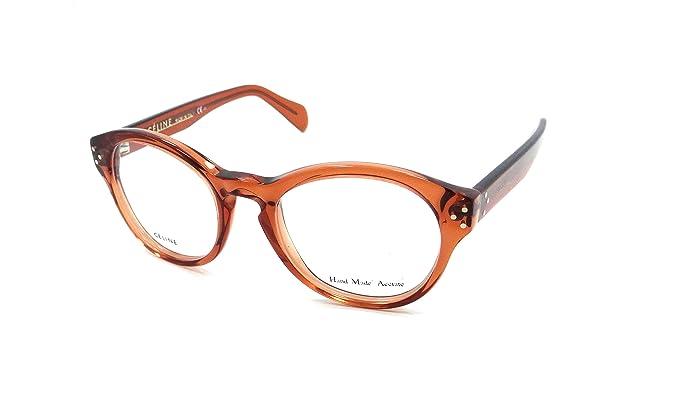 Celine Rx Eyeglasses Frames CL 41300 EFB 47-19-140 Dark Orange Made ...