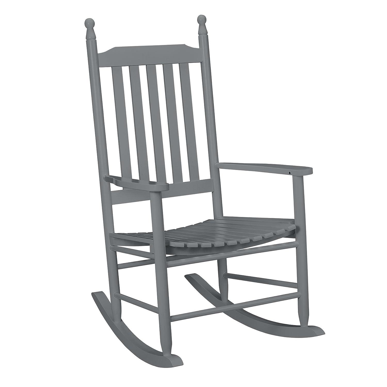 [casa.pro] Sedia a dondolo bianca di legno massello sedia relax di alta qualitá con bracciolo per il rilassamento o come sedia d´allattamento poltrona a dondolo per salotto, cucina, balcone e giardino [casa.pro]®