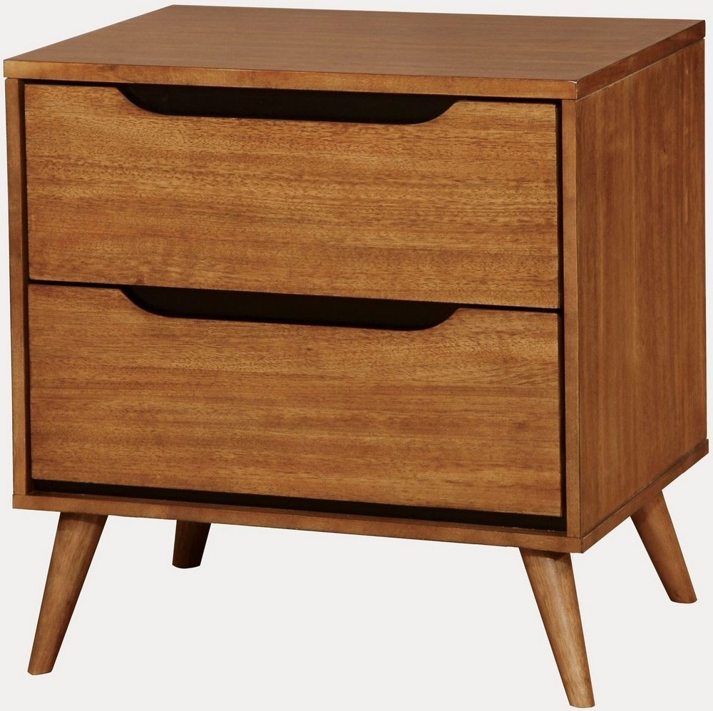 Amazon com furniture of america cm7386a n lennart oak nightstands 24 h kitchen dining