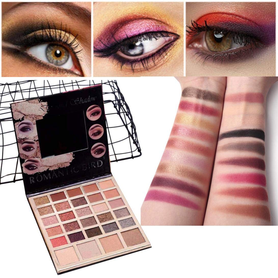Bright Professional New Fashion Shimmer Shine Eyeshadow Brand Make Up Smoky Black Blue Dark Red Glitter Eye Shadow Makeup Palette Quality First Beauty & Health