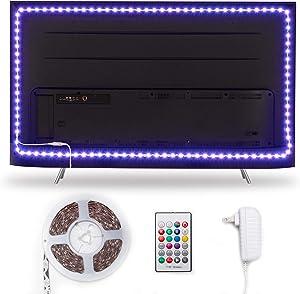 Hamlite TV LED Backlight for 82 85 90 95 Inch TV Bias Lighting, 21ft LED Light Strip for TV Home Theater Gaming Room Ambient Lighting Decor, Easy-Bending Design, 24W Adapter Powered Non-USB
