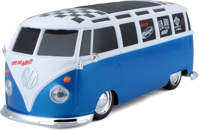 Radio Control RC 1962 VW Samba Bus Plastic 1:10 Maisto 20 inch Full Function Red