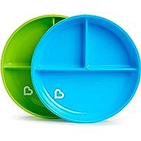Munchkin Stay Put verdeelde platen, blauw/groen