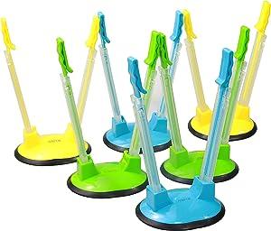 Hompon Baggy Rack Holder For Freezer Bag Holder Stand/Ziplock Bag Holder Stand/Meal Planning/Prep Bag Holders For Filling,6 Pack/6pcs