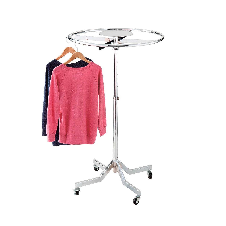 Chrome High Gloss Finish Circular Clothes Rail 75cm Diameter Stackable