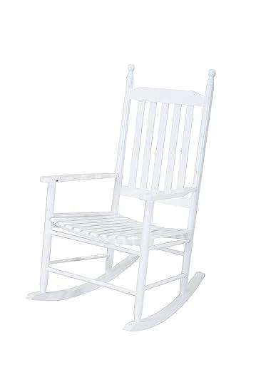 Sunjoy Safavieh Shasta White Wood Rocking Chair