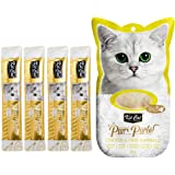 Kit-Cat Purr Puree Chicken & Fiber Hairball Wet Cat Treat Tubes 4x15g