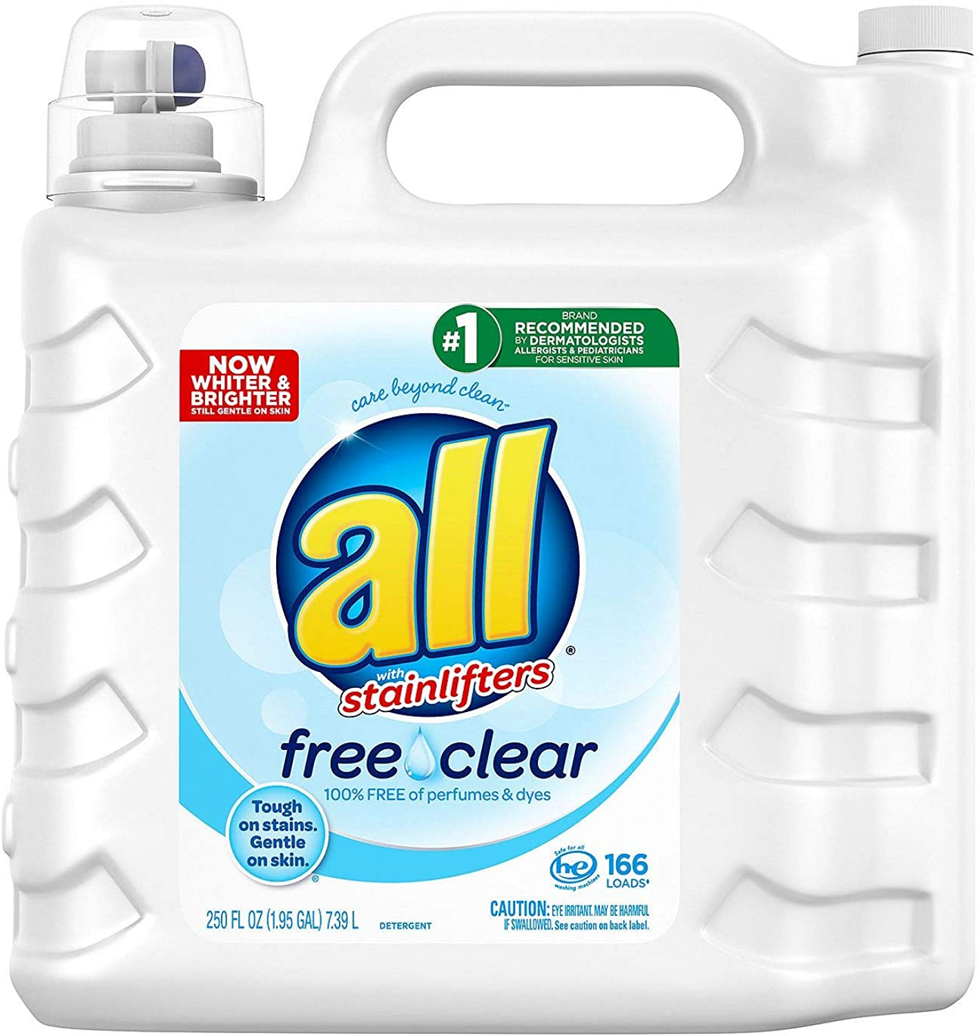 All 2X Ultra with Stainlifter Free & Clear (250 oz, 166 loads) (5 Pack(250 oz.))