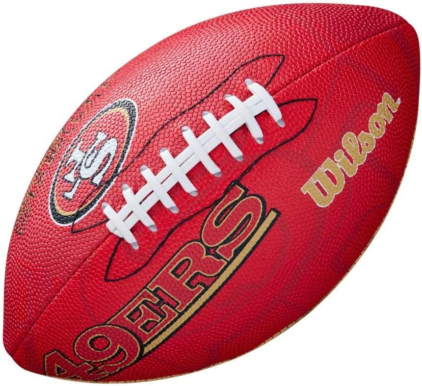 Wilson WTF1534XBSF Pelota de fútbol Americano NFL JR Team San ...
