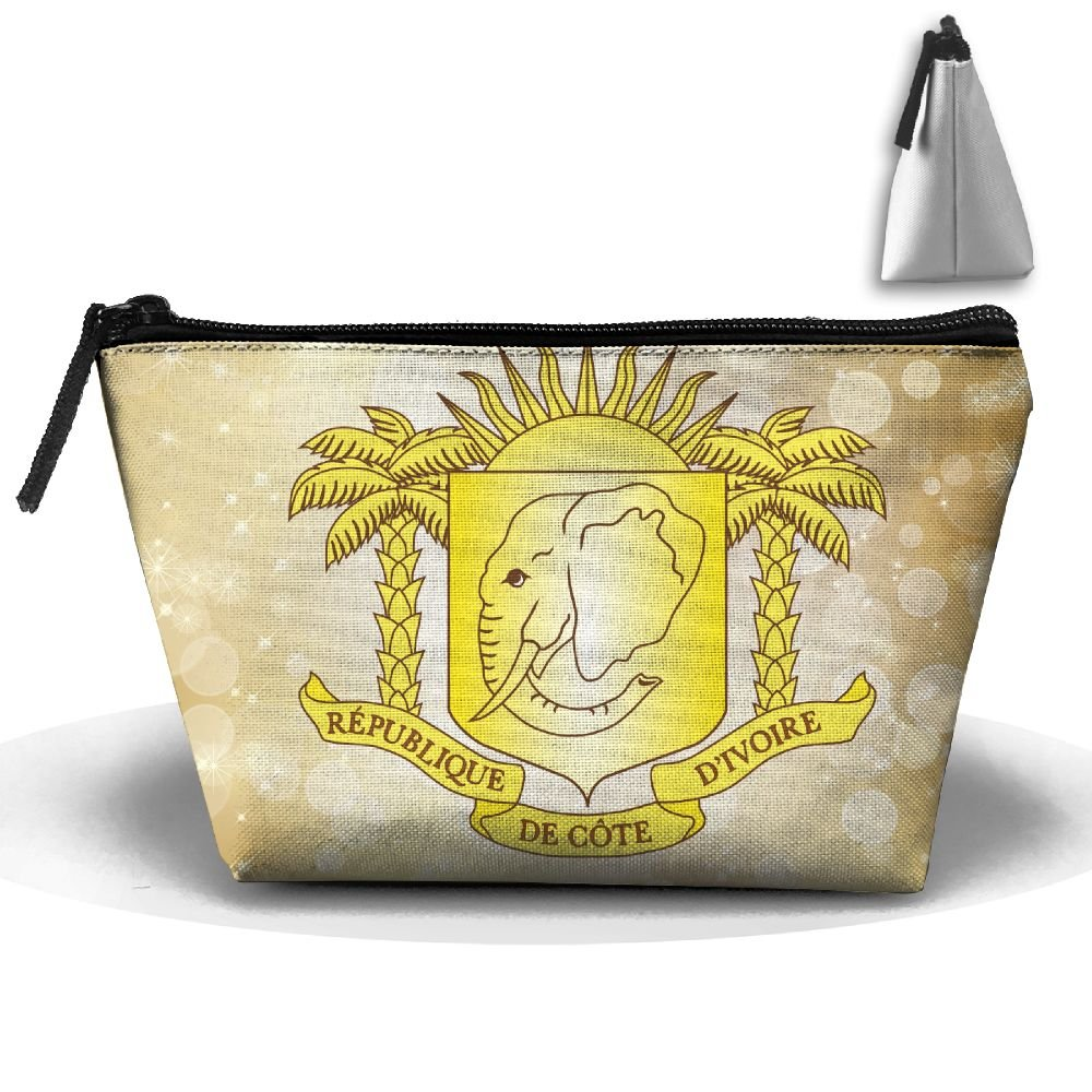 Simoner Coat Of Arms Of C么te D'Ivoire (2001-2011 Variant) Large Capacity Storage Bag Makeup Package Trapezoidal