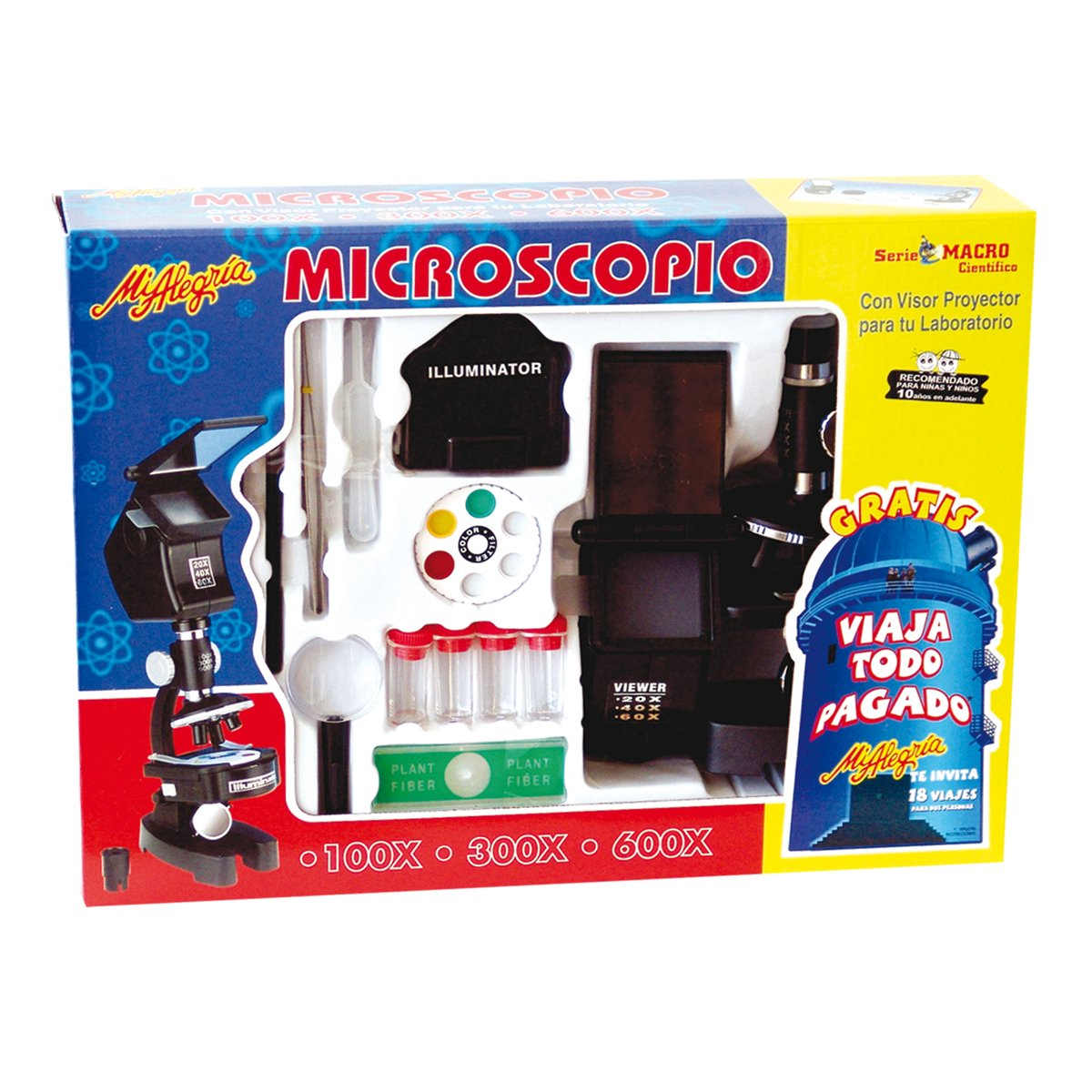 Mi Alegria Microscopio con Proyector Microscopio - Juguetes y Kits ...