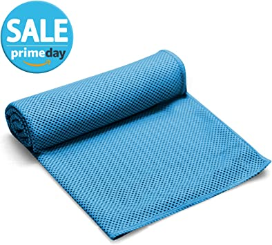 FITVC Neck Cooling Towel Evaporative Fast Instant Cool Towels Cooling Neck Wrap Ice Towel Scarf Bandana Neck Coolers for Sports Yoga Athletes Gym ...