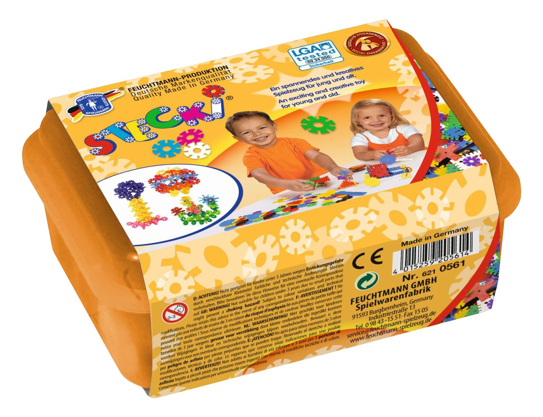 Feuchtmann Spielwaren 6210560 170 g Stecki Girls Konstruktions-Set One for Two Box Midi