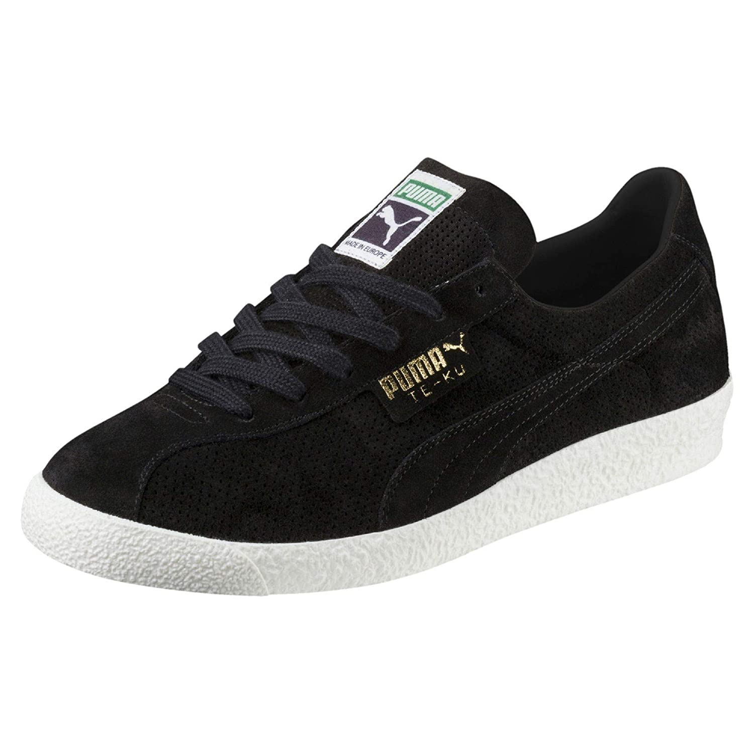 dd888530596 Puma Men s Te-Ku Summer Black and White Leather Sneakers-12 UK India (47  EU) (36542204)  Buy Online at Low Prices in India - Amazon.in
