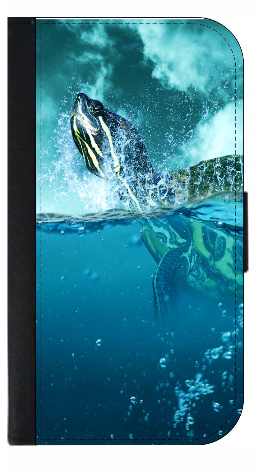 Sea Turtle - Passport Cover / Card Holder for Travel