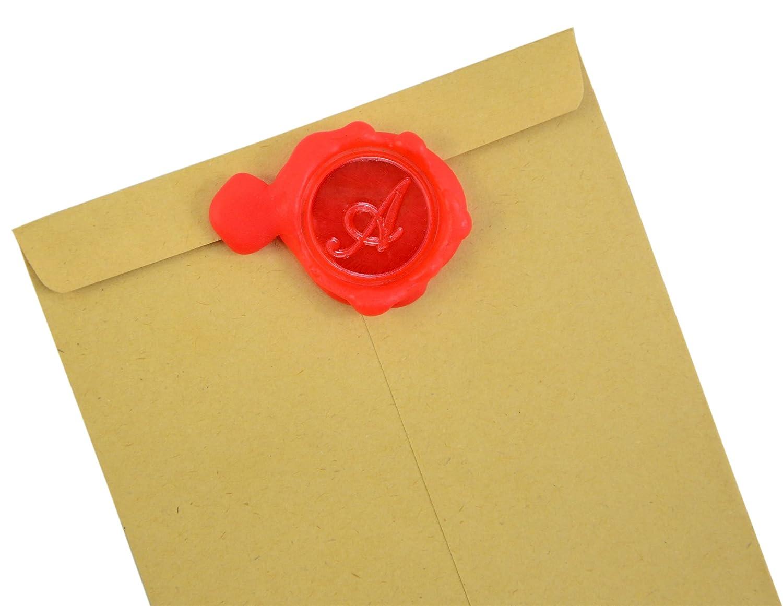 Wax Seal Stamp Sealing Wax Classic Initial Alphabet Retro Wood Z001 B