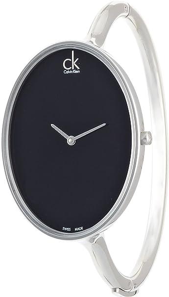 Calvin Klein Reloj Analógico para Mujer de Cuarzo con Correa en Acero Inoxidable K3D2S111: Amazon.es: Relojes
