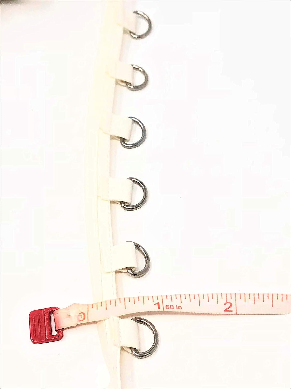 1//2 Wide White Vinyl D Ring Tape Nickel by Yard