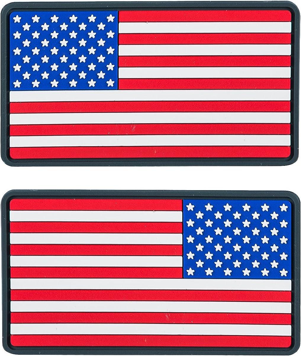 Vraies couleurs Lot de 2 Helikon USA Grand Drapeau PVC /Écusson