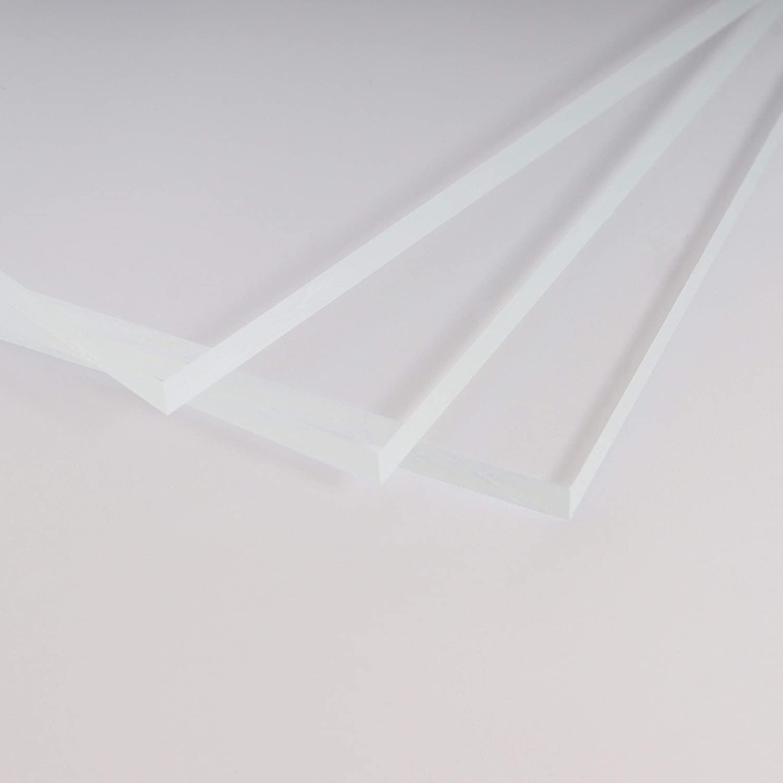 B/&T Metall Acrylglas PMMA XT Platte transparent UV-best/ändig 400 x 400 mm beidseitig foliert 15,0 mm stark Wunschma/ß Zuschnitt bis Gr/ö/ße 40 x 40 cm