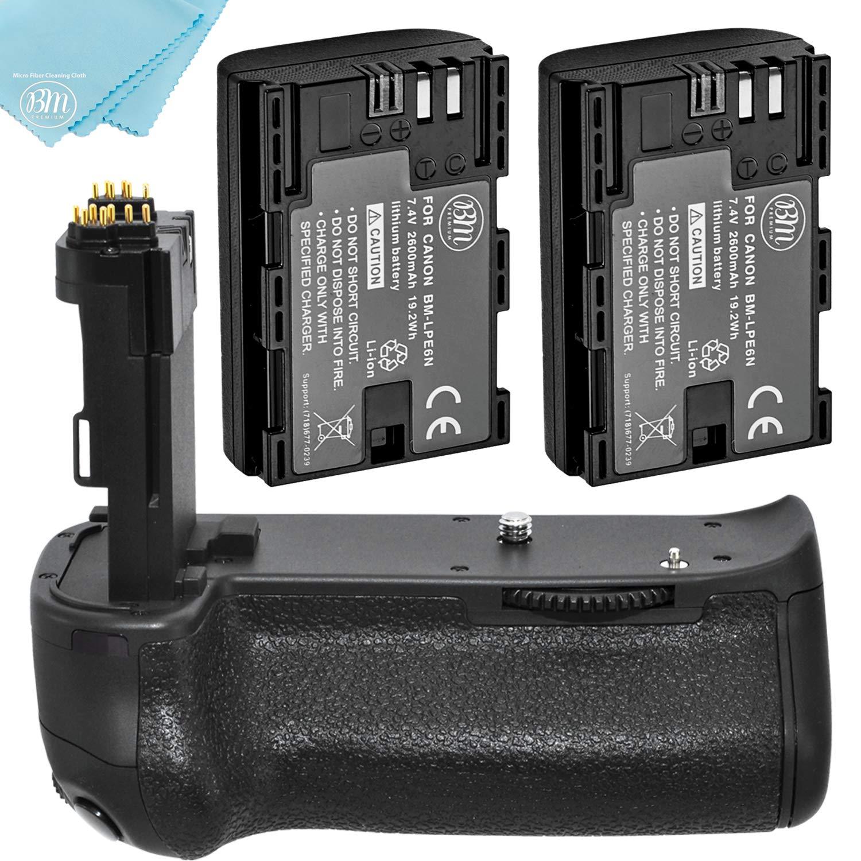 Battery Grip Kit for Canon EOS 70D EOS 80D Digital SLR Camera Includes Qty 2 BM Prmeium LP-E6 Batteries + BG-E14 Replacement Battery Grip by Big Mike's