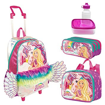 6964ca48ea Kit Mochila Infantil Barbie Dreamtopia Lancheira Estojo Sestini ...
