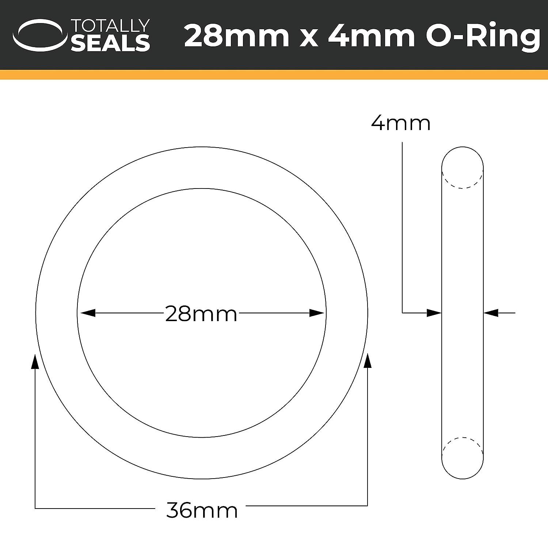 28/mm x 4/mm /scegliere Dimensioni confezione O-ring in gomma nitrile 70/a durezza Shore/ Nero 36/MM od