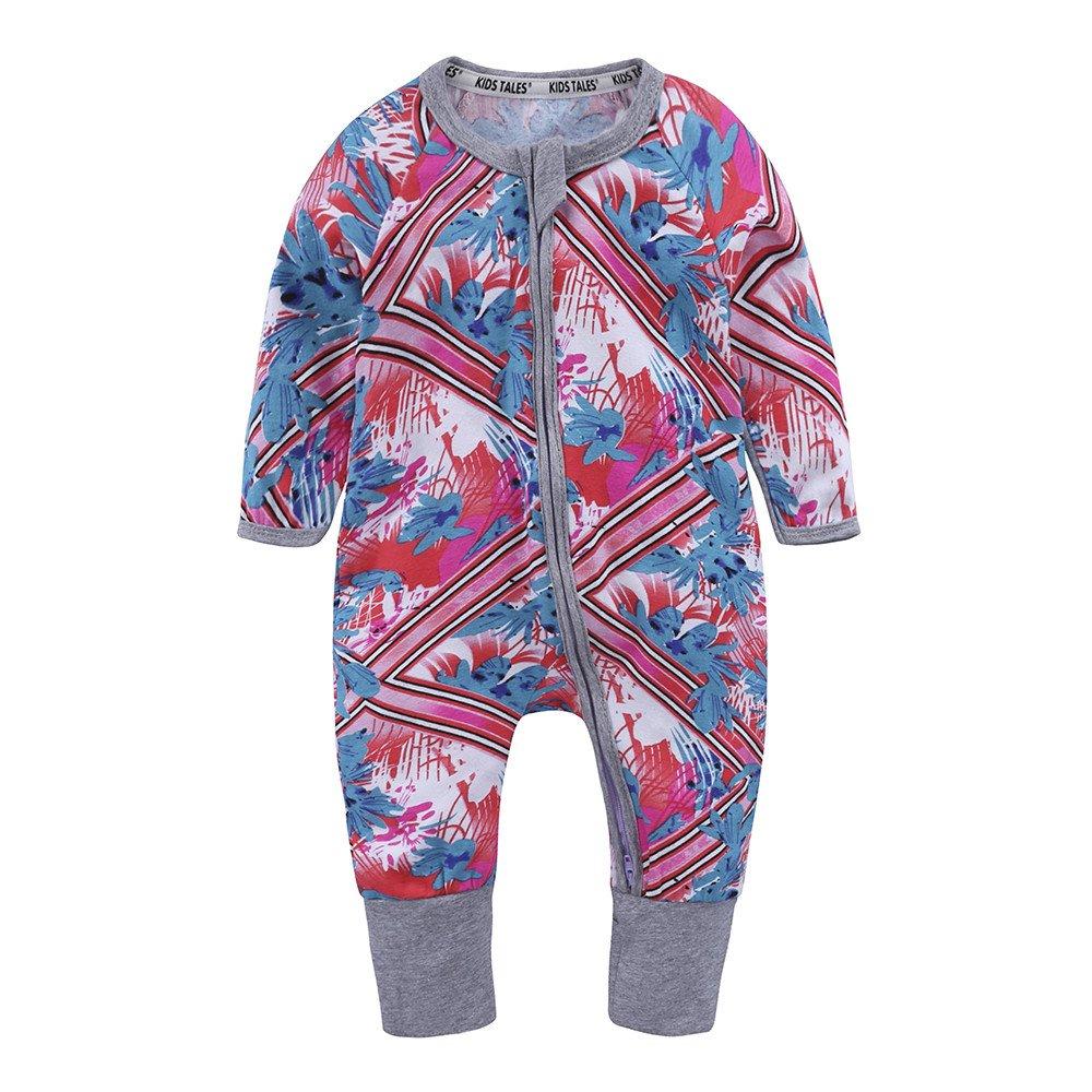 Kids Tales Baby Infant Handed Footed Zipper Pajamas Sleeper Cotton Romper Fuzhou Shang Ku Trade Co. Ltd.